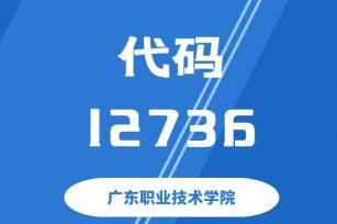 【代码: 12736】广东职业技术学院