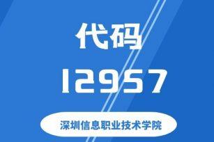 【代码: 12957】深圳信息职业技术学院